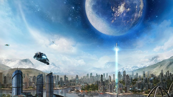 "Anno 2205: Das Gratis-Add-on ""Wildwater Bay"" ist da. In der neuen Generation des Aufbau-Strategiespiels von Entwickler Blue Byte wird der Mond erobert. (Quelle: Blue Byte)"