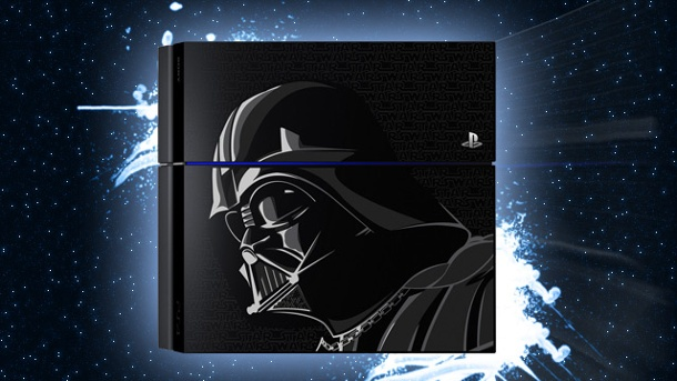 Star Wars Battlefront: Sony bringt PS4-Sondermodell im Darth-Vader-Look. Star Wars: Battlefront-Sonderedition der Spielkonsole PS4 im Darth-Vader-Look (Quelle: Sony / Disney (Montage: t-online.de))