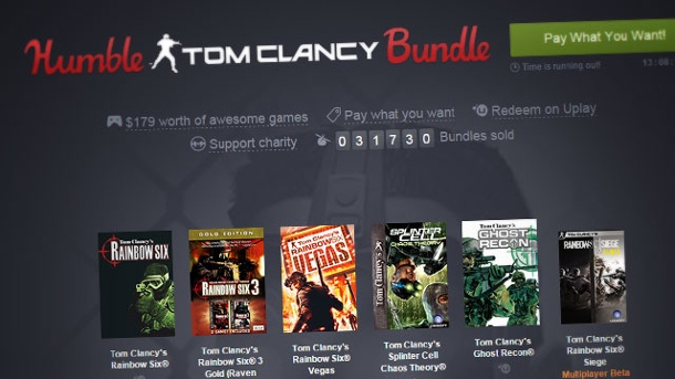 "Das ""Humble Tom Clancy Bundle"" ist erschienen. Humble Tom Clancy Bundle (Quelle: Humble Inc.)"