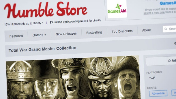 "Das ""Humble Total War Bundle"" ist erschienen. Humble Total War Bundle (Quelle: Humble Inc.)"