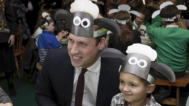 "Prinz William outet sich als Fan von ""Shaun das Schaf"". (Quelle: Reuters)"