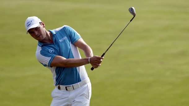 Golf: Kaymer fällt in Shanghai vor Finaltag aus Top Ten. Martin Kaymer in Aktion.