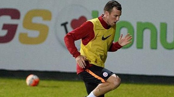 Galatasaray Istanbul: Warum Kevin Großkreutz schnell weg will. Kevin Großkreutz im Training von Galatasaray Istanbul.  (Quelle: Screenshot: Instagram, @fischkreutz)