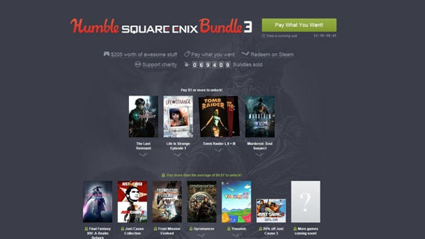 Humble Square Enix Bundle 3: Die volle Dröhnung Lara Croft & Co.. Mit dem Humble Square Enix 3 Bundle geht die Schnäppchenjagd für PC-Spieler in eine neue Runde. (Quelle: Humble Inc.)