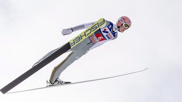 Skispringen Willingen: Severin Freund will aufs Podium. Severin Freund in Aktion.