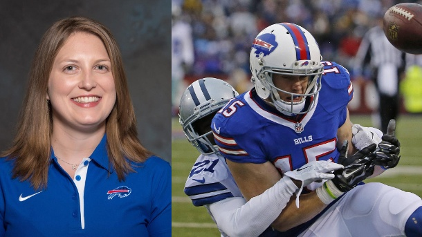 NFL: Buffalo Bills engagieren mit Kathryn Smith erste Vollzeittrainerin. Sorgt für ein Novum in der harten Männerwelt der NFL: Kathryn Smith vom NFL-Team Buffalo Bills. (Quelle: dpa/imago/Zuma-Press)