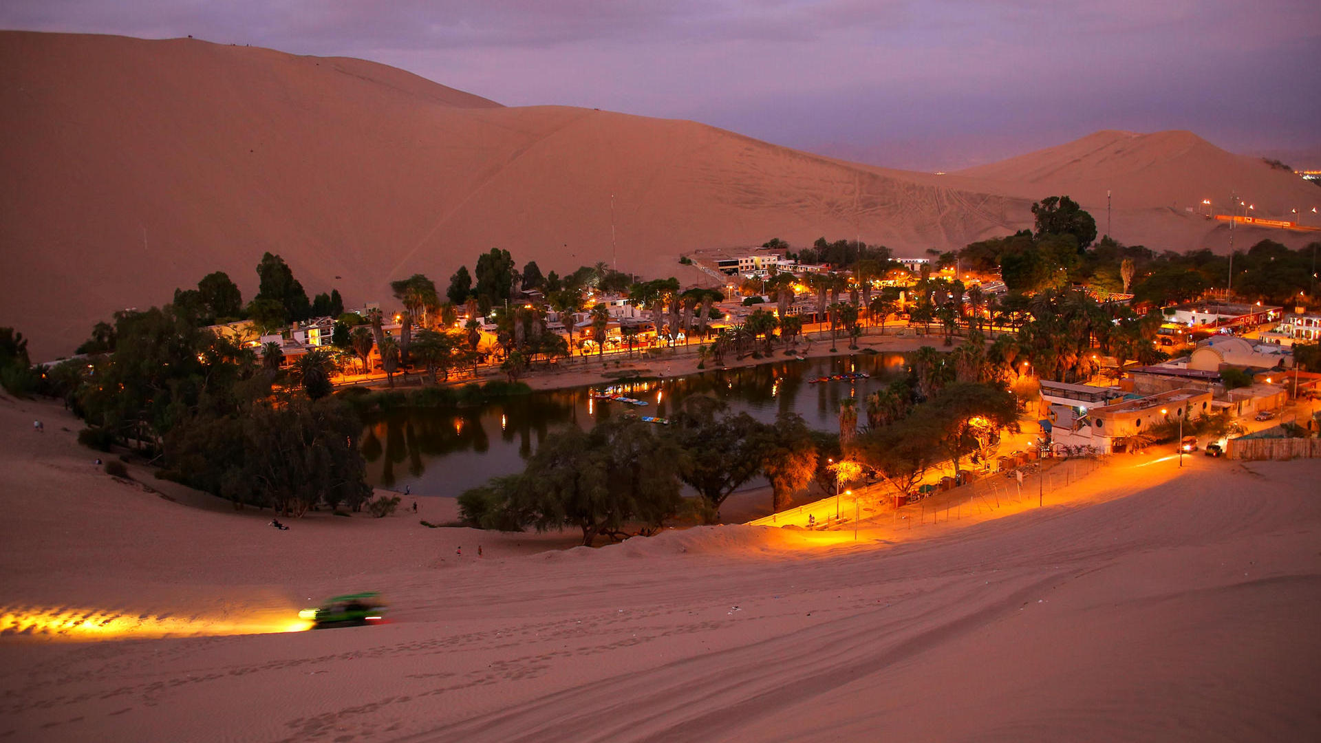 Huacachina wirkt total abgeschieden. (Quelle: Thinkstock by Getty-Images)