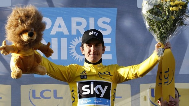 Radsport: Thomas gewinnt Paris-Nizza - Kämpfer Contador unterliegt. Geraint Thomas hat Paris-Nizza gewonnen.
