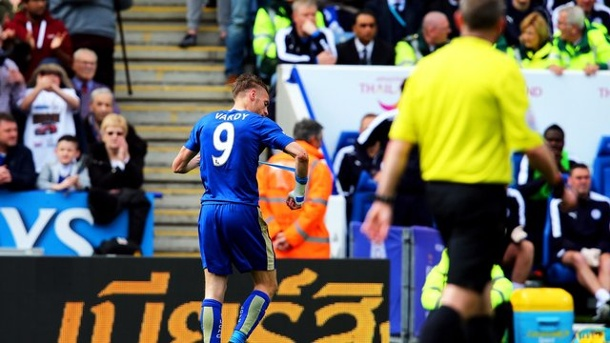 Fußball: Leicesters Vardy droht trotz Gelb-Rot längere Strafe. Jamie Vardy droht eine längere Sperre.