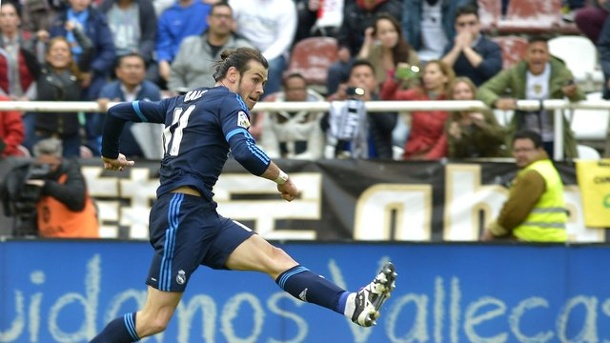Manchester City - Real Madrid: Bale als Real-Hoffnungsträger. Real Madrids Gareth Bale in Aktion.