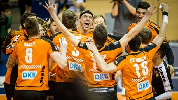 Volleyball: Berlin Recycling Volleys holen Triple. Die Berlin Volleys sind zum siebten Mal deutscher Meister.