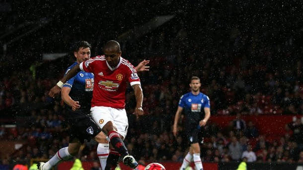 Manchester United nach Wiederholungsspiel in der Europa League. Ashley Young erzielte das 3:0 für Manchester United.