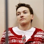 Ukrainian military pilot Savchenko attends a court hearing in Moscow (Quelle: Reuters)
