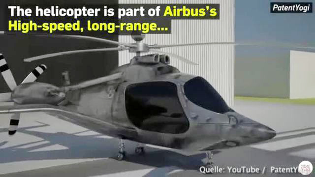 Airbus-Patent zeigt neuartigen Hybrid-Helikopter. (Screenshot: Bit Projects)