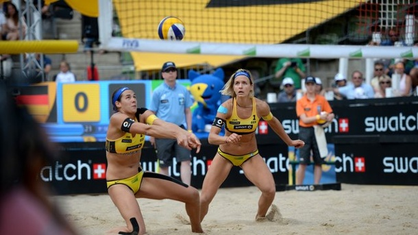 Beach-Volleyball: Beach-Duo Ludwig/Walkenhorst im Grand-Slam-Halbfinale. Laura Ludwig und Kira Walkenhorst stehen beim Grand Slam im polnischen Olsztyn im Halbfinale.