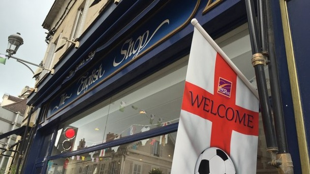 The English Shop am EM-Quartier 2016. The English Shop in Chantilly.