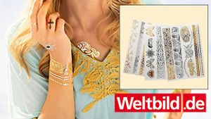 Metallic-Tattoo 'Ethno', 6er Set