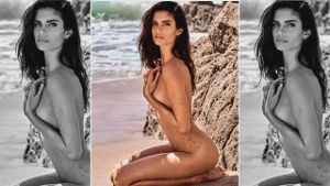 Sexy Beachgirl: Sara Sampaio nackt am Strand. (Screenshot: Zoomin)