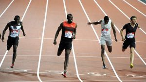 Sprint-Star Usain Bolt gewann in London die 200 Meter in 19,89 Sekunden.