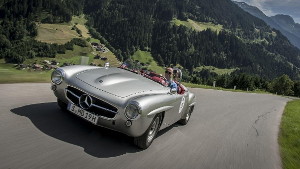 Mercedes 190 SL-R: die Rennversion des Klassikers. Die schönste Bergziege der Welt: der Mercedes 190 SL-R. (Quelle: Press-Inform)