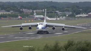 Antonov An-124 auf der Farnborough Airshow. (Screenshot: Bit Projects)