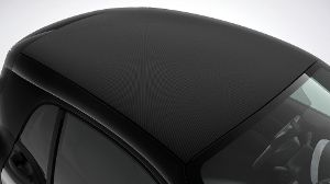 Ab September hat das Festdach des Smart Fortwo Coupés eine Softtop-Optik.