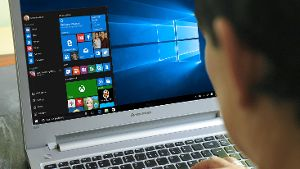 Windows 10 auf einem Notebook
