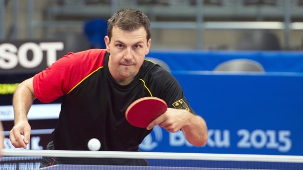 Olympia: Boll droht frühes Duell mit Weltmeister Ma Long. Timo Boll in Aktion.