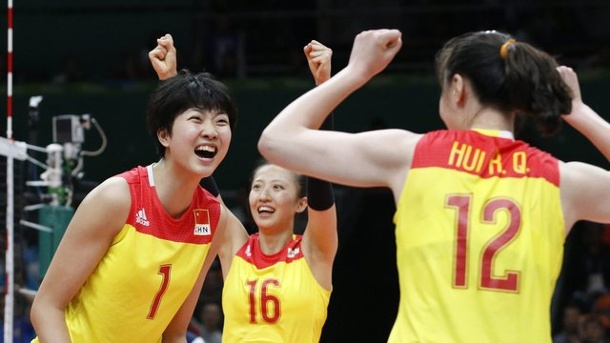 Olympia 2016: Chinas Volleyballerinnen holen drittes Mal Gold. Chinas Volleyball-Frauen holen zum dritten Mal bei Olympia Gold.