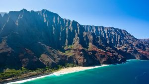 Na Pali Coast Mountain auf Hawaii.