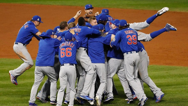MLB 2016: Chicago Cubs gewinnen Baseball-World-Series. Riesenjubel bei den Chicago Cubs. (Quelle: dpa)