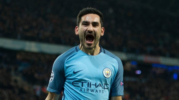 Manchester City: Ilkay Gündogan schwärmt von Pep Guardiola. In der Champions League erzielte Ilkay Gündogan gegen den FC Barcelona zwei Tore. (Quelle: imago/Europa Eibner)