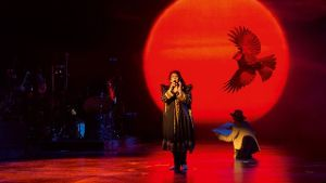 Kate Bush im Londoner Hammersmith Apollo.