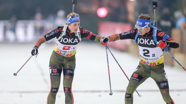 biathlon auf schalke simon schempp und vanessa hinz gewinnen. Black Bedroom Furniture Sets. Home Design Ideas