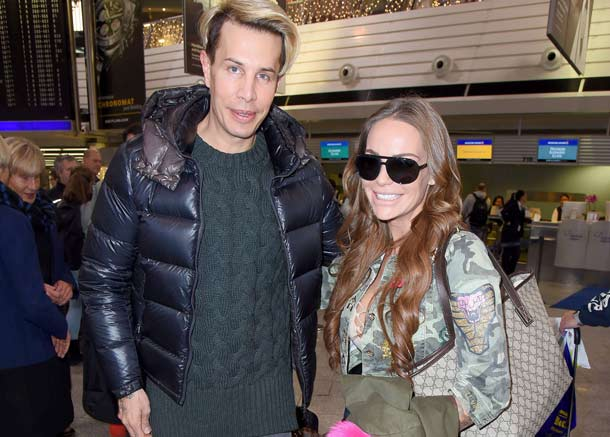"It-Girl Gina-Lisa Lohfink und ""Botox-Boy"" Florian Wess hoben am Samstag in Richtung Down Under ab. (Quelle: imago/Star-Media)"
