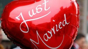 'Just married'-Ballon