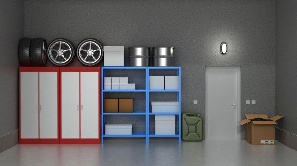 Stauraum in der Garage sinnvoll nutzen. (Quelle: Thinkstock by Getty-Images)
