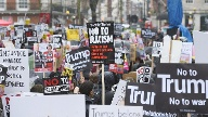 Anti-Trump-Proteste Angang Februar auf der Londoner Downing Street (Quelle: dpa)