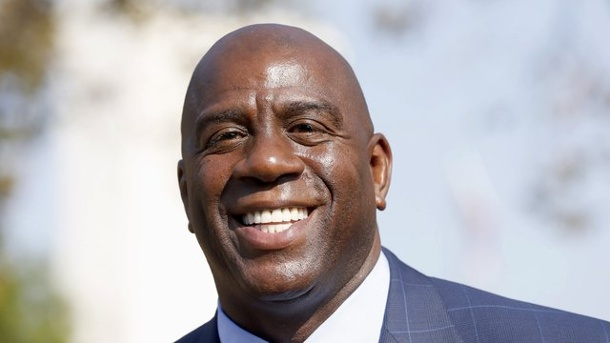 "Basketball: Magic Johnsons ""Traum"" in Los Angeles. Magic Johnson ist neuer Hoffnungsträger der LA Lakers."