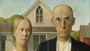 Grant Wood, American Gothic, 1930. (Quelle: dpa/Handout)