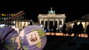 'Earth Hour' am Brandenburger Tor (Quelle: dpa)