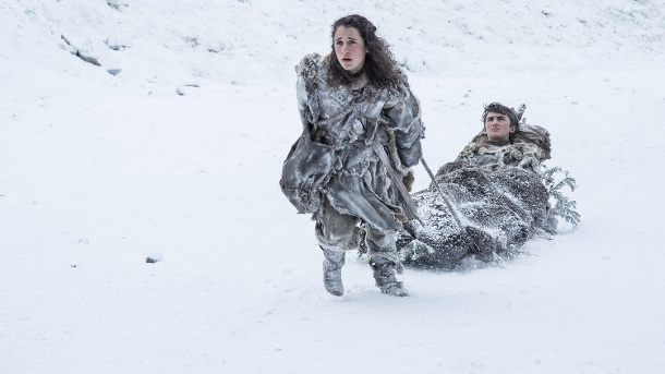 "Ellie Kendrick und Isaac Hempstead Wright als Meera Reet und Brandon Stark - ""Game of Thrones"" (Quelle: Helen Sloan / HBO)"