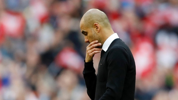 Enttäuscht: City-Trainer Pep Guardiola. (Quelle: Reuters)