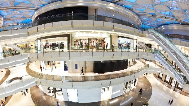 Wann sich offene Immobilienfonds lohnen. Moderne Shopping Mall (Quelle: Thinkstock by Getty-Images/ymgerman)