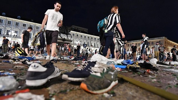 Champions League: 1400 Verletzte nach Panik beim Public Viewing in Turin