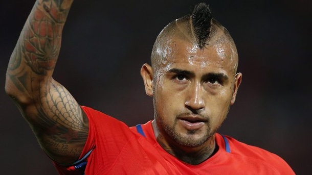 Fußball: Chile trifft vor Confed Cup in Russland ein. Arturo Vidal trifft mit Chile beim Confed Cup am 22.