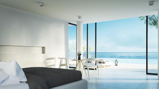 The Modern Bedroom - Sundeck on Sea view (Quelle: Thinkstock by Getty-Images/Symbolbild/TonTectonix)