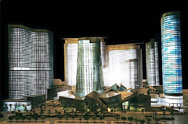 Das geplante City Center in Las Vegas. (Entwurf: www.citycenter.com)