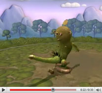 "Spore Labor: Das ""Penis Monster"" auf Youtube (Bild: EA / Youtube)"