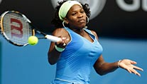 Serena Williams bei der Vorhand. (Foto: Reuters)